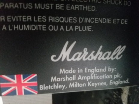 All-tube Marshall goodness...